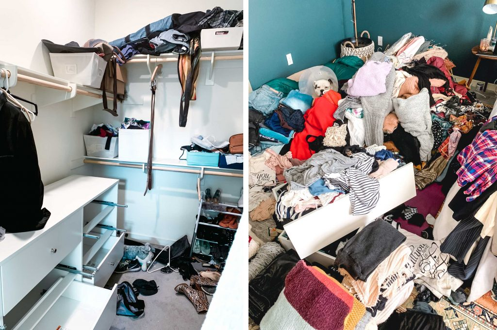 closet organization marie kondo purge